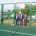 В поселке Хмельники открыли спортивную площадку