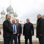 Ростовский район с рабочим визитом посетил председатель Ярославской областной Думы Алексей Константинов